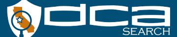 License Search DCA Search
